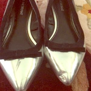 Silver dress shoes